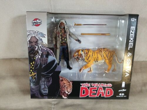 """THE Walking Dead Ezekiel e Shiva TIGER 5/"""" Action figure McFarlane 2014 Bloody"""