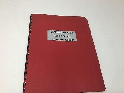 Mahindra Ml112 Tractor Front End Loader Operators Manual