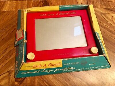 Etch A Sketch Vintage Ohio Art Drawing Game With Original Box And Instructions