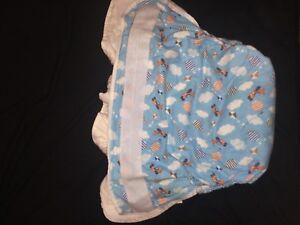 Adult Bulky blue plane clothe diaper