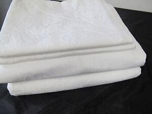 Omas alte Weißwäsche Bettwäsche  4 Teilig  Weiß  Blumen *50*