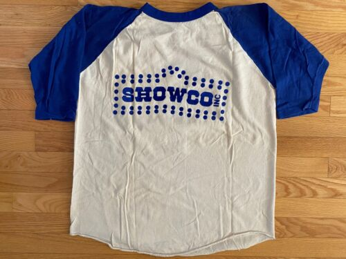 VTG RARE Showco Johnny Winter 1974 Crew Concert Album Promo Tour Baseball Shirt!