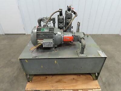 70 Gallon 15 Hp 3ph Hydraulic Power Unit 2500psi 17 Gpm Vickers 25v17a 1c 22r