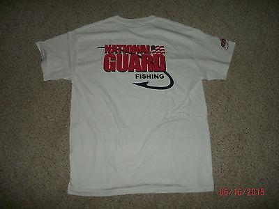 FLW Outdoors National Guard Fishing White T-Shirt Size 3XL