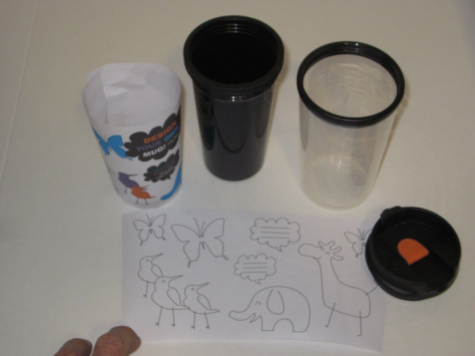 design your own travel mug - double walled cup, kids arts &图片