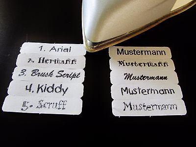 50  Wäscheetiketten Namensetiketten Stoffetiketten Wäschekennzeichnung
