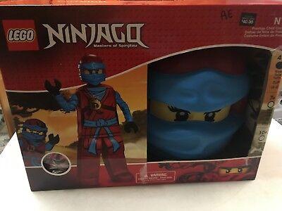 NIB LEGO NINJAGO MASKED HALLOWEEN COSTUME SET  BOYS  SZ   4