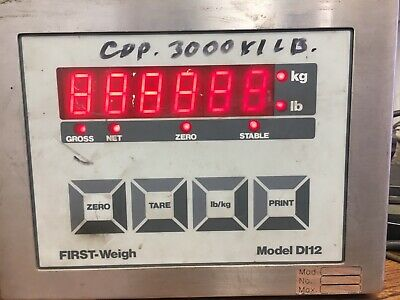 First Weigh Digital Scale Model Di12 Industrial Lbkg Indicator