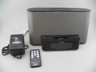 Sony Dream Machine ICF-CS10iP Alarm Clock AM/FM Radio w/ REMOTE & iPod Dock EUC