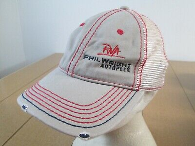 - Vintage PWA Phil Wright Autoplex Service Mechanic Embroidered Golf Strapback Hat