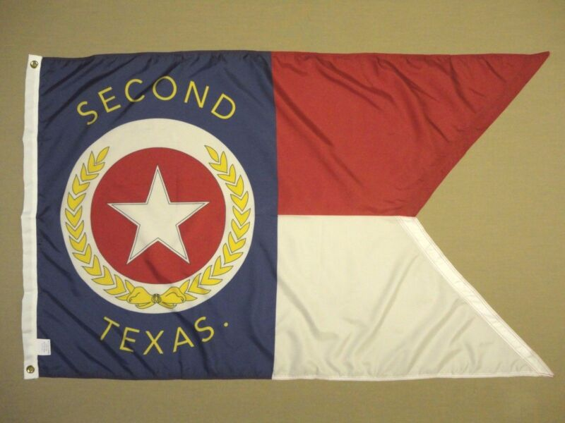2nd Texas TX Cavalry Guidon Indoor Outdoor Historical Dyed Nylon Flag 3
