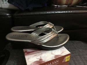 Size 11 wedge flip flops for sale!