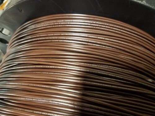 16 GAUGE WIRE BROWN 1000 FT PRIMARY AWG STRANDED COPPER POWER GROUND MTW VW-1