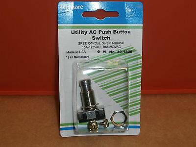 30-1426 Utility Heavy Duty AC Push Button Momentary Switch,NIP