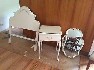 Queen Ann side table, mirror and bed head. Preston Darebin Area Preview
