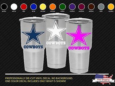 NFL Dallas Cowboys Decal for YETI Tumbler 20 30 Ozark Trail Sticker Football
