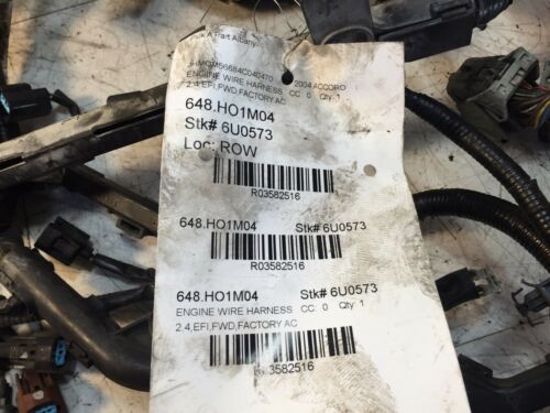 used 2004 honda accord engines and miscellaneous related components for sale