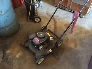 Lawn mowers and string trimmers for sale