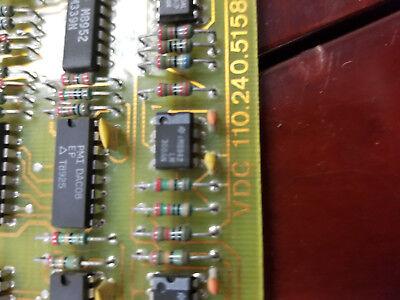 Netstal Control Card Vdc 110.240.5158 Injection Molding Machine