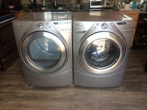 Silver Washer & Dryer Steam Set! Will deliver