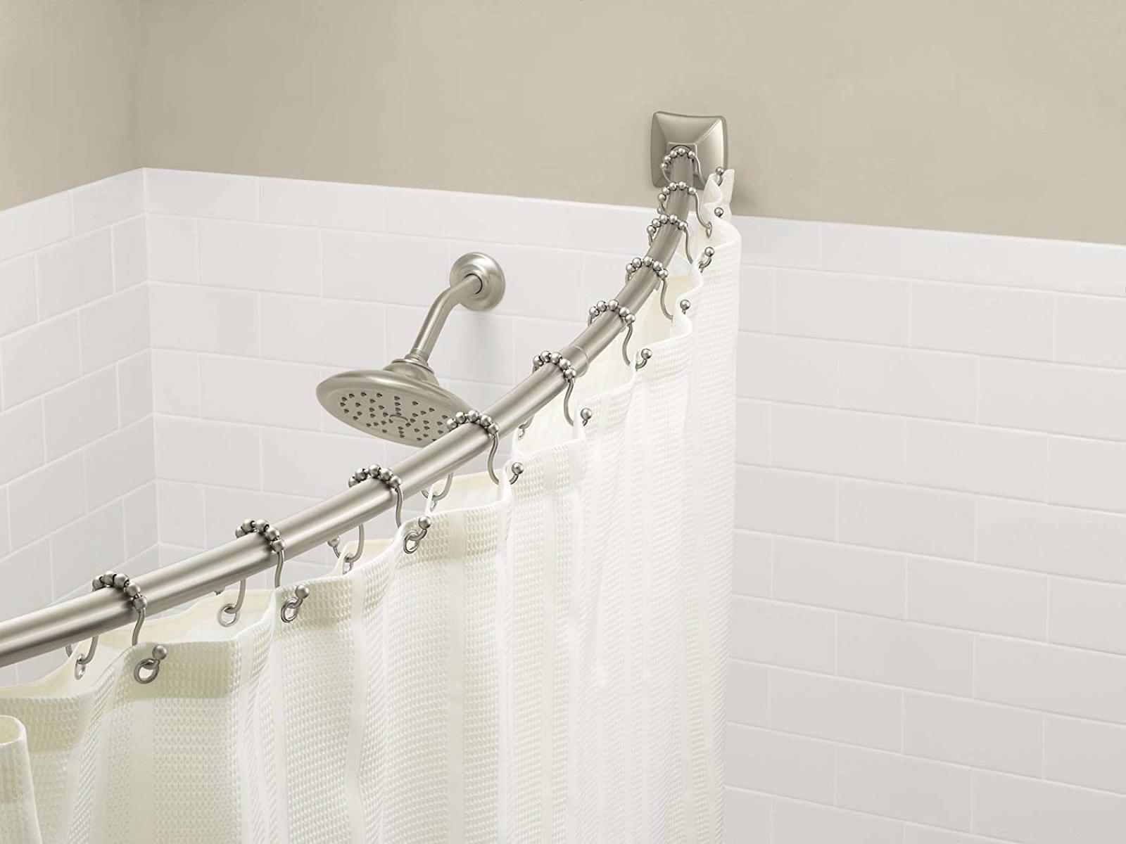 Details About Adjustable Curved Shower Curtain Rod Bathroom Bathtub Circular Bath Tub Bar Rail