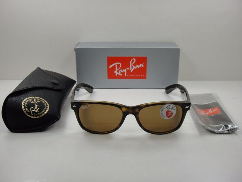 d254f47c14a RAY-BAN NEW WAYFARER POLARIZED SUNGLASSES RB2132 902 57 TORTOISE BROWN 55MM  NEW