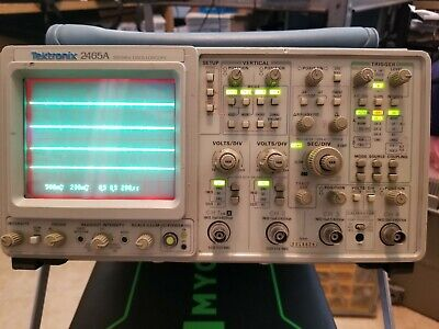 Tektronix 2465a 350 Mhz 4 Channel Ocilloscope With Pouch And User Manual