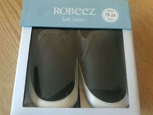 Robeez Soft Soles baby/ toddlers  shoes 18-24 months charcoal