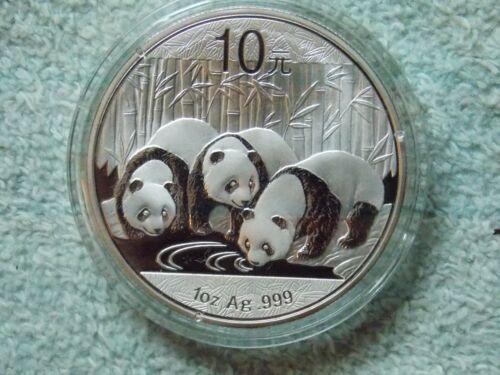 2013 Chinese Silver Panda 10 Yuan 1 OZ BU