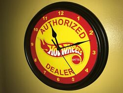 Hot Wheel Toy Car Truck Store AuthDealer Man Cave Wall Clock Sign
