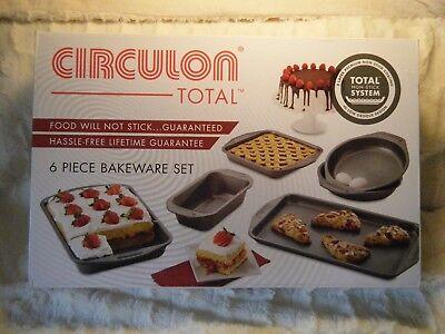 Circulon 6 piece Total Non-stick Bakeware Set New in - Circulon Non Stick Bakeware