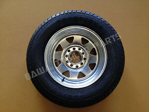 GALVANISED-13-MULTI-FIT-HOLDEN-HT-FORD-RIM-WITH-155-LT-TYRE-Trailer-Parts
