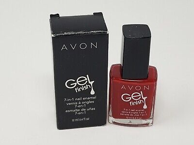 Avon Gel Finish 7 in 1 Nail Polish Enamel Roses Are Red