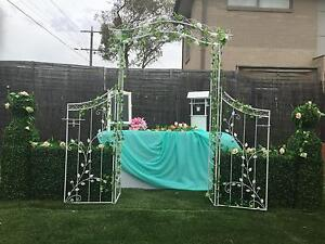 Wedding Arch Gates Hedges Wishing Well Flowers Pascoe Vale Moreland Area Preview