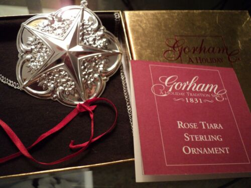 "GORHAM ""Rose Tiara"" Sterling Silver Star Ornament  2001"