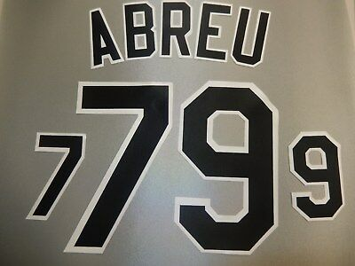 CHICAGO WHITE SOX Number KIT Authentic AWAY GRAY Baseball JERSEY