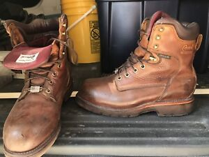 AMERICAN CHIPPEWA WATERPROOF STEEL-TOE BOOTS