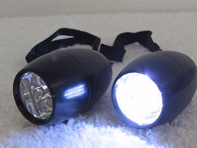 2 Mini Pocket Flashlight 6 Led Light Torch Lamp Portable Lanyard Bright Camping