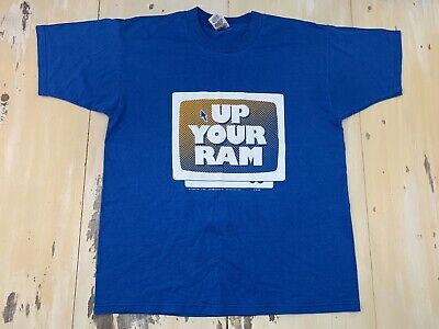 UP YOUR RAM - Vtg 1996 90s Blue Computer Internet FOTL BEST T-shirt, Mens
