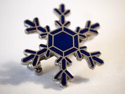 Snowflake Pin Blue