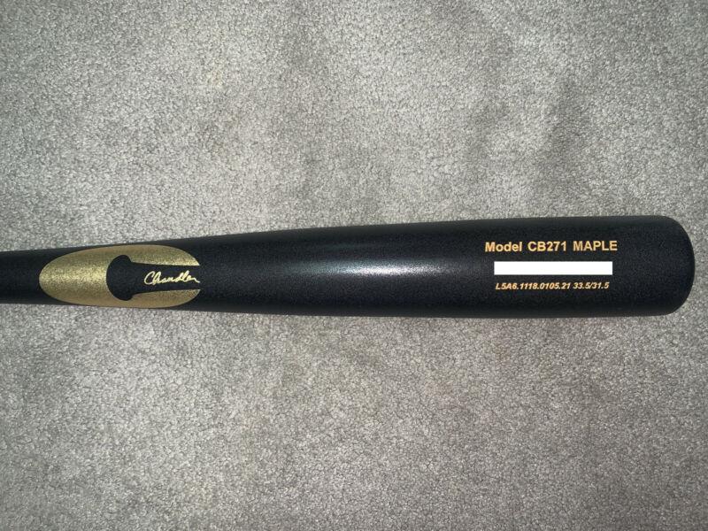 BRAND NEW Chandler CB271 33.5in./31.5oz. Maple Baseball Bat - Matte Black Finish