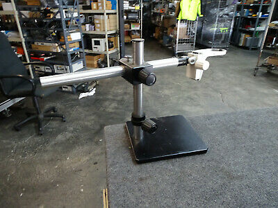 16 Scienscope Microscope Stand W 24 Arm Leica 10447254 Stereoscope Mount