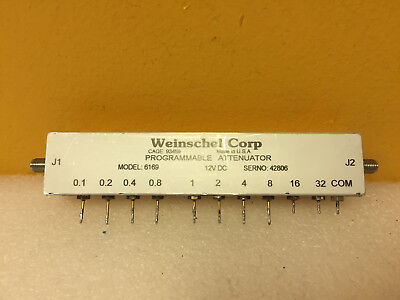 Weinschel 6169 3209-1e Dc To 3 Ghz Sma F Programmable Attenuator. Tested