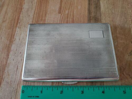 Nice Sterling Silver Cigarette Card Case Box 148.5g No Monogram