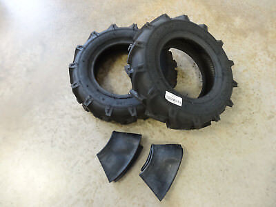 Two New 5.00-12 Starmaxx Tr-60 Lug Compact Farm Tractor Tires  Tubes R1