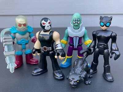 Imaginext DC Classic Villains 4 pack Mr. Freeze Bane Catwoman Brainiac.