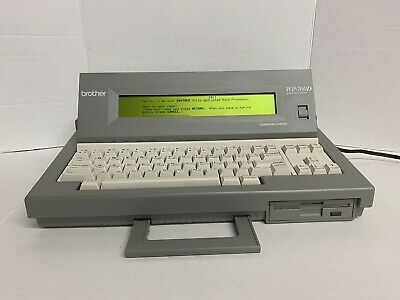 Brother Wp-760d Portable Word Processor Electronic Typewriter Tested A