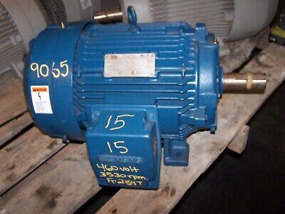 New Siemens 15 Hp Ac Electric Motor 254t Frame 3530 Rpm 230460 Vac Tefc 3 Phase