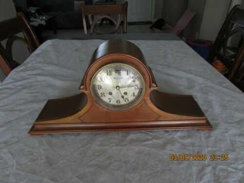 Chelsea Wood Case Ships Bell Mantel Clock Boston USA Semi Working Project