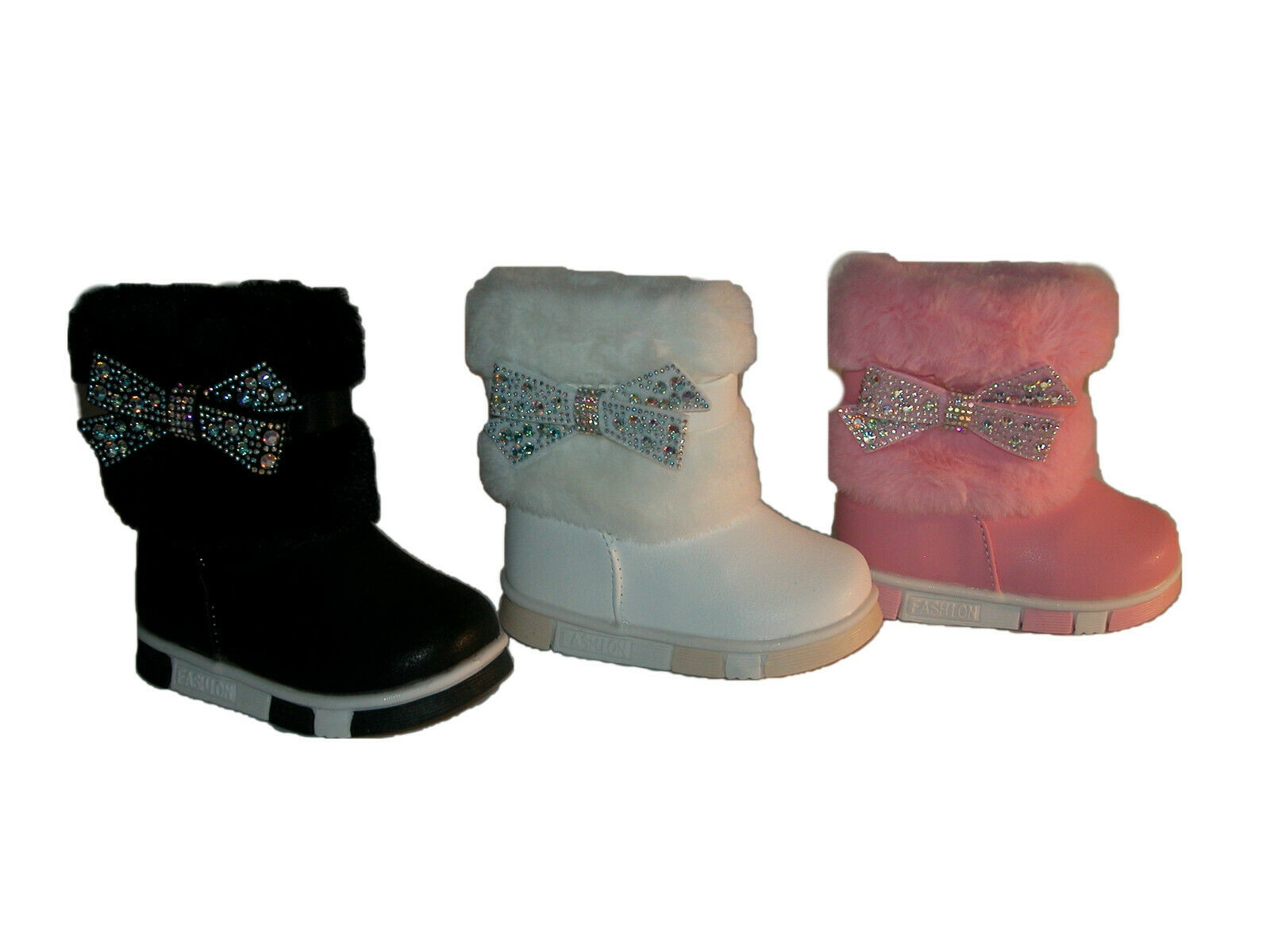 Winter Stiefel Kinder Schuhe Boots Kunstfell 42A Stiefeletten Gefüttert Gr:20-25